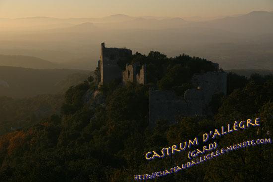 Effets de lumière sur le Castrum