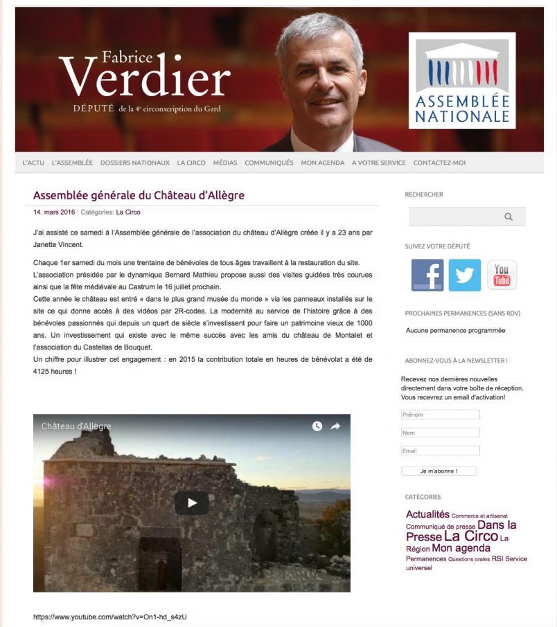 Blog du député Verdier