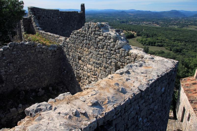 Arases du mur nord