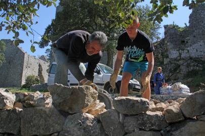 Pose des pierres