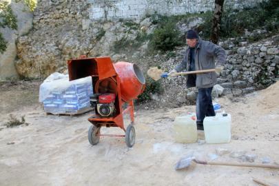 Préparation du mortier